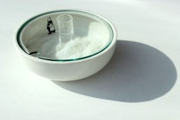Vessel shape, ceramic and glass and decal