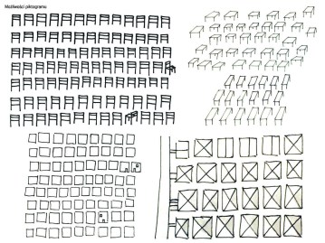 Sketches - possibilities of pictogram