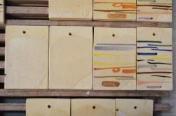 """4. Próbki / probes """"11,12,13,14"""" – 1200-1260°C Clear glaze Skaleń/ Feldspar 40 Kreda/ Whiting 16 Talk/Talc 2 Tlenek cynku/ Zinc Oxide 4 Kwarc/ Flint 30 Kaolin/ China Clay 8"""