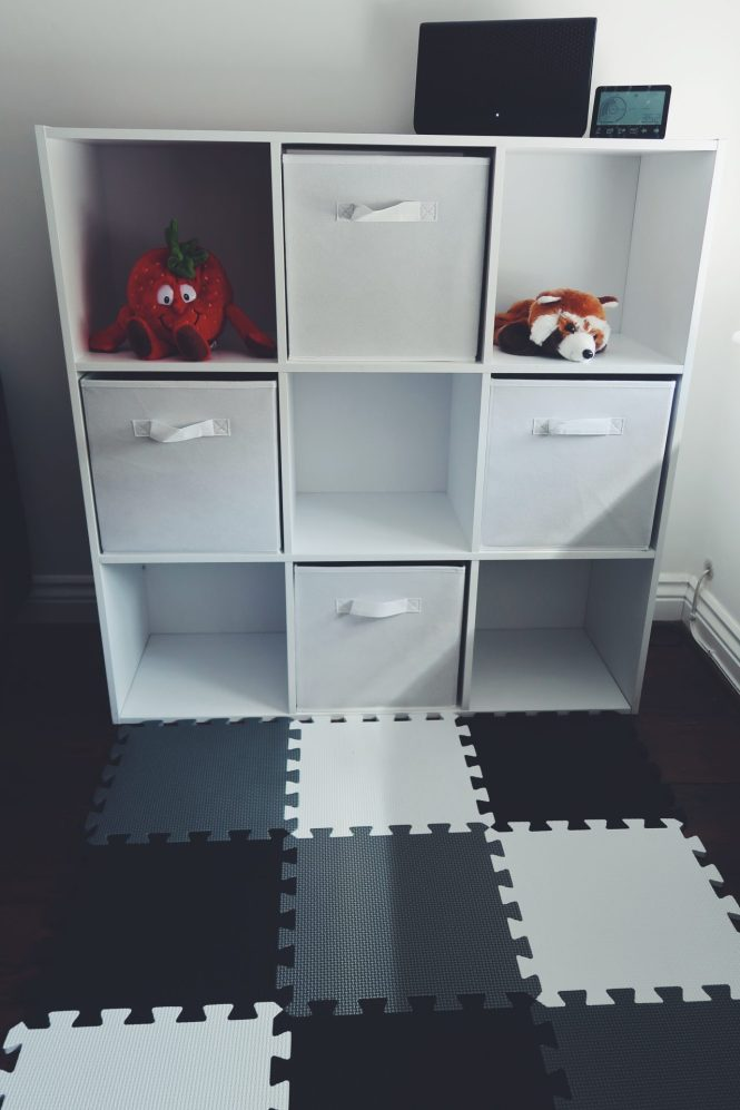 baby storage shelf unit