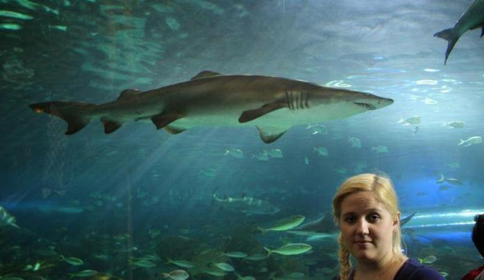 Karolina with the shark