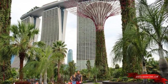 Singapore Gardens with Marina Bay Sands