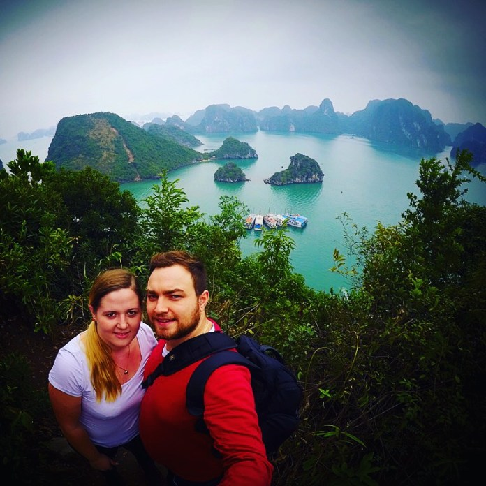 Karolina and Patryk in Halong Bay
