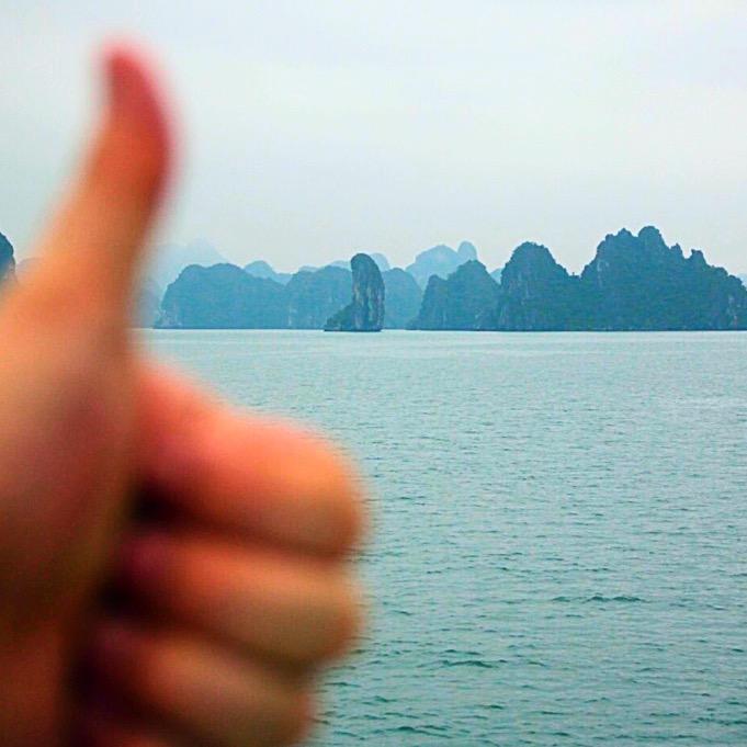 Thumb island in Halong Bay