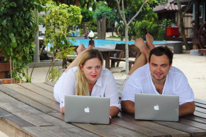 digital nomad at work