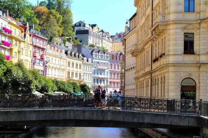 Us in Old Town of Karlovy Vary