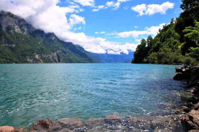 Walensee lake is a romantic hotspot in Switzerland