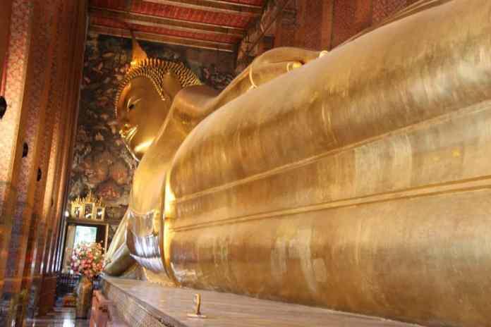 golden laying buddha Bangkok