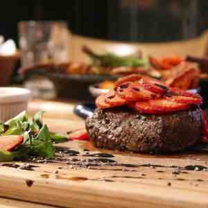 strawberry steak mouthwatering