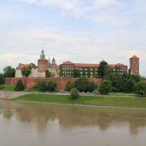 wawel view vistula river