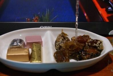 Dattelvariation (gefüllt, kandiert, mit Nüssen, Sesam…) und Pralinen