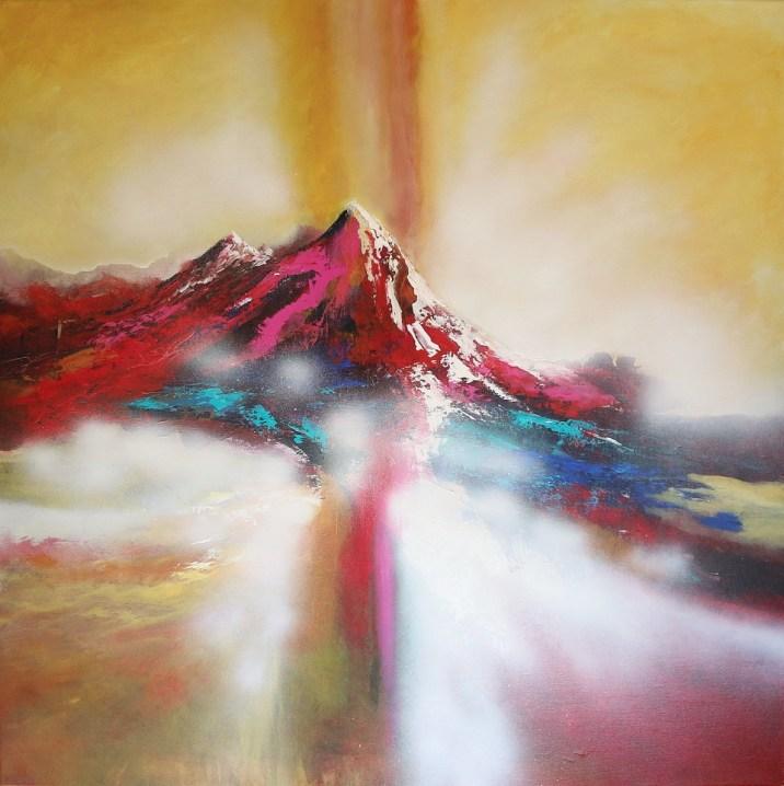 Glamorous Scarlet Morning 100 x 100 cm