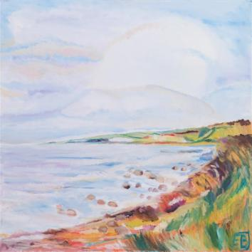 en sommersky over fjorden,Fur,2013, 60x60 (Small)