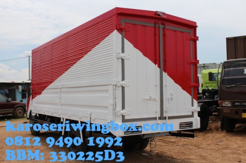Karoseri wingbox light truck Hino Dutro 130 MDL