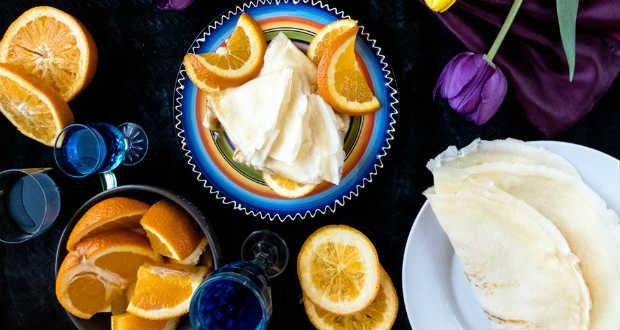 Tönkölylisztes palacsinta narancskrémmel