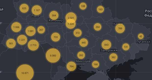 Ukrajnában 18 616-ra emelkedett a regisztrált koronavírusos esetek száma