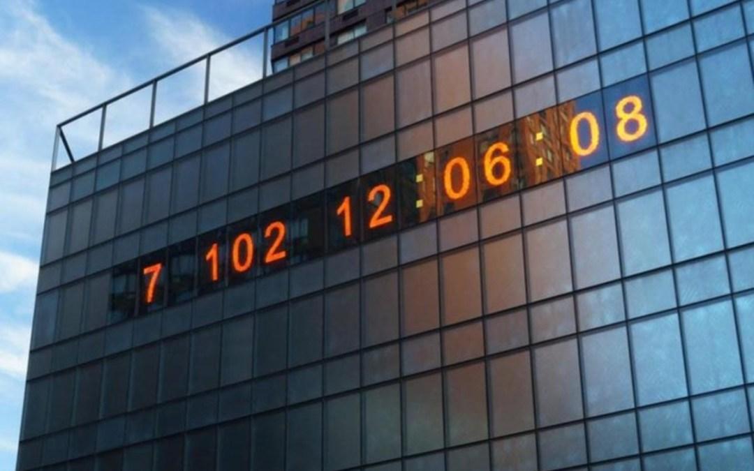 Visszaszámláló órát helyeztek ki klímaaktivisták New York központjában