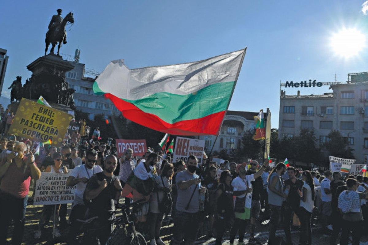 bulgáriai tüntetés 2020