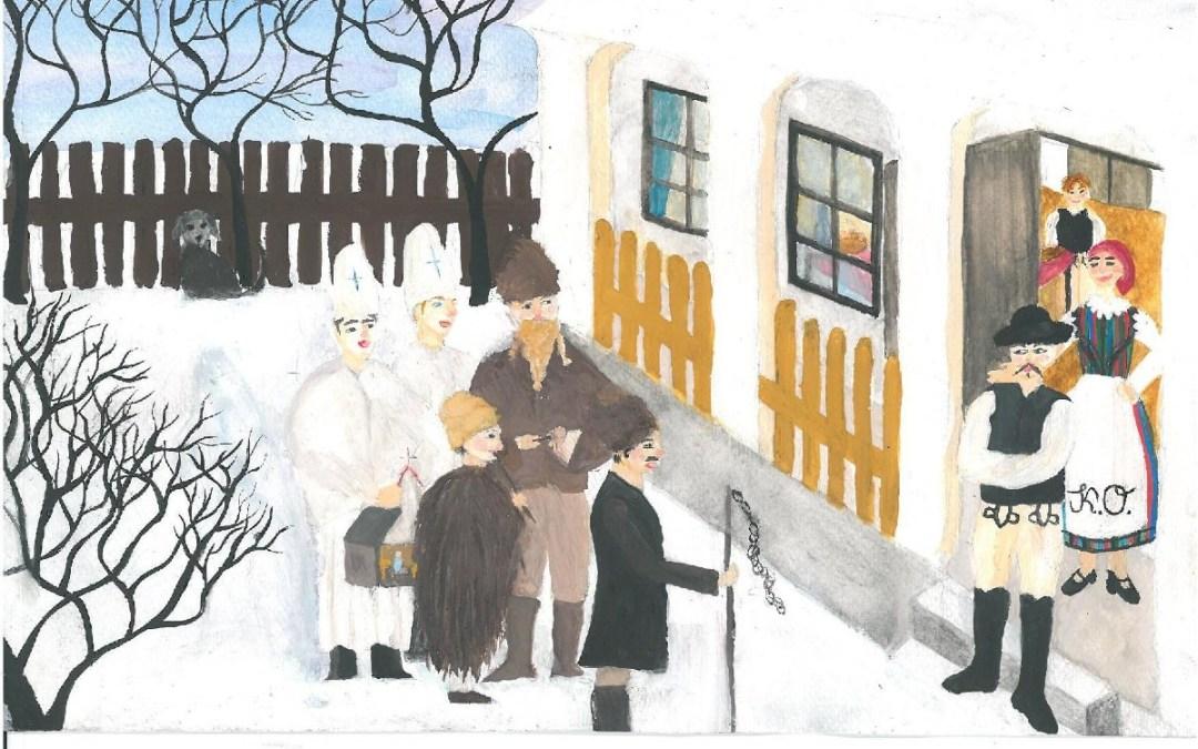Téli házaló szokások – Karácsonyi rajzpályázat 2020