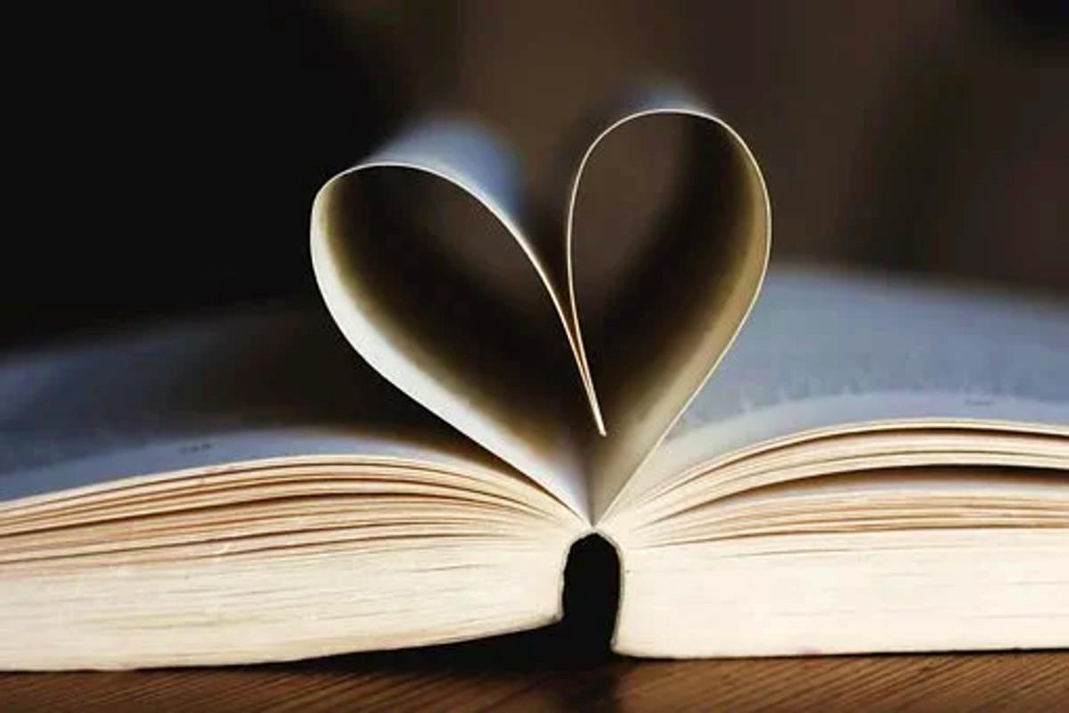 könyv szív lapok