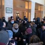 Ismét tüntettek a magas közüzemi díjak ellen Ungváron