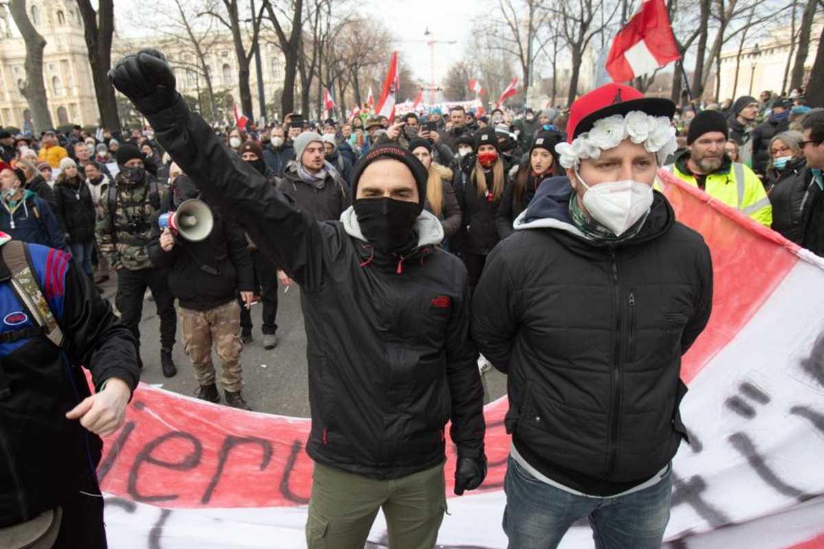 tüntetés Bécs