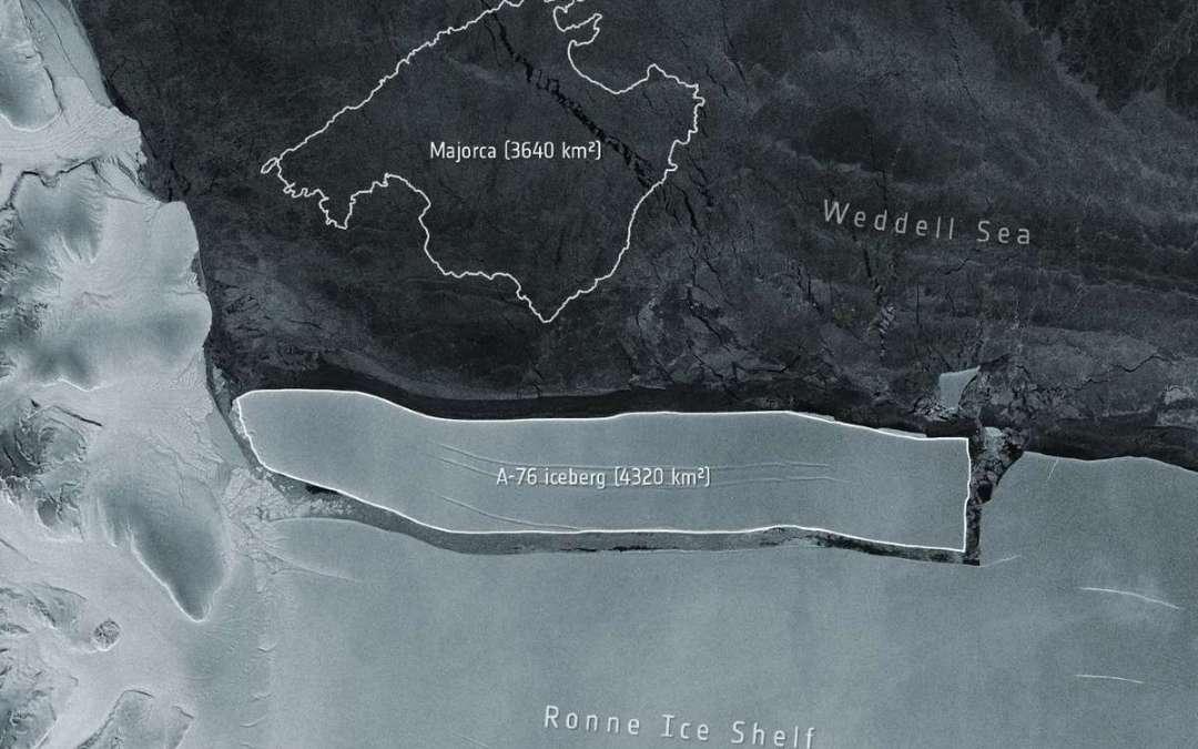 Óriási jéghegy vált le az Antarktiszon