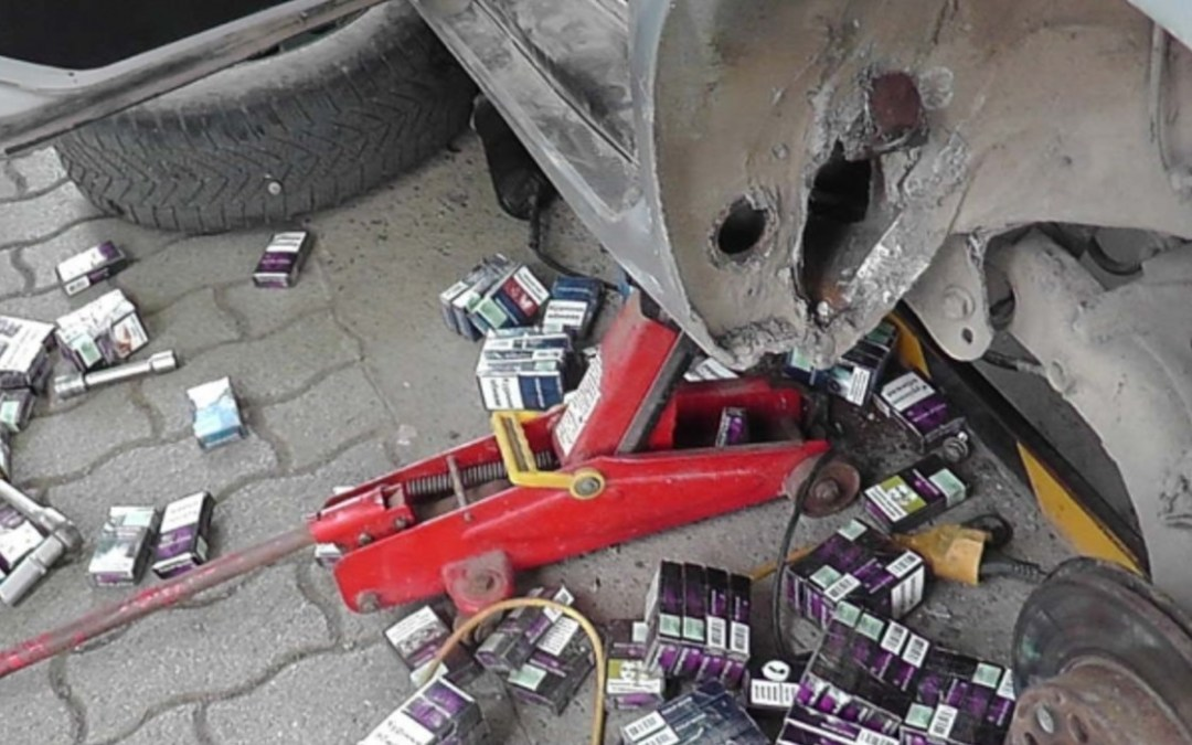 Több mint egymillió forint értékű ukrán cigarettát foglaltak le Tiszabecsnél