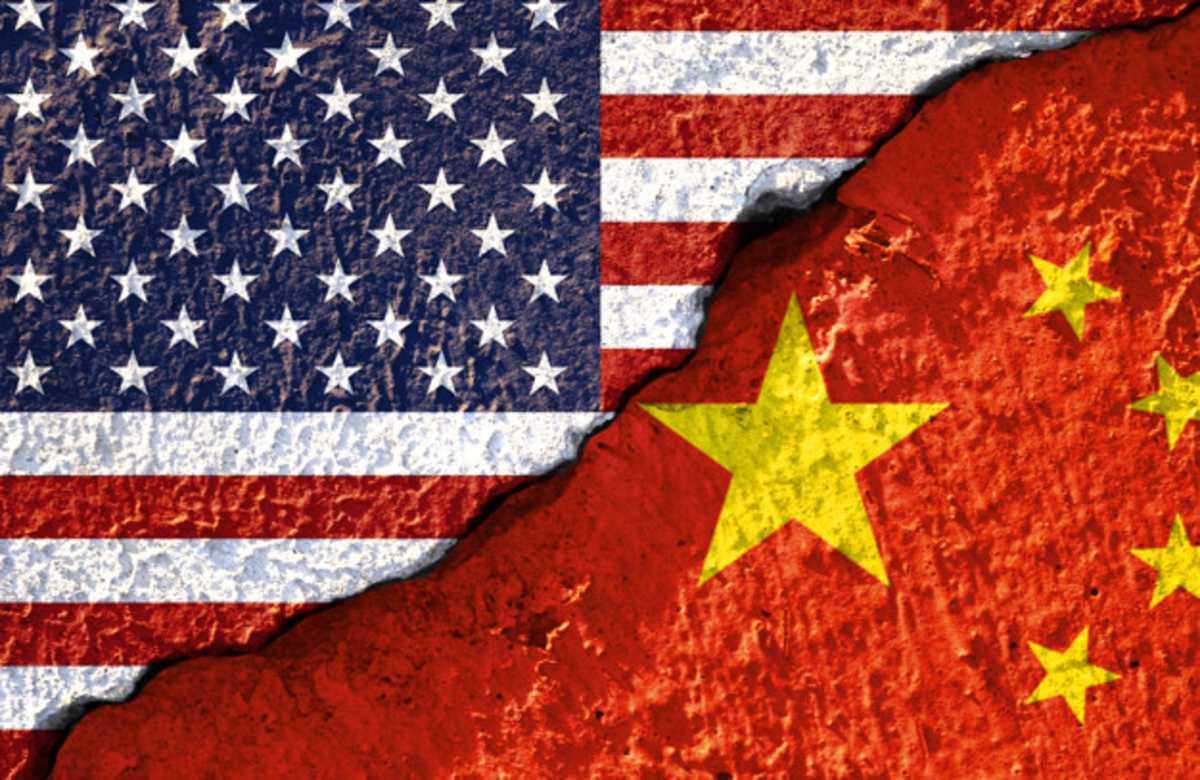 USA Kína zászló
