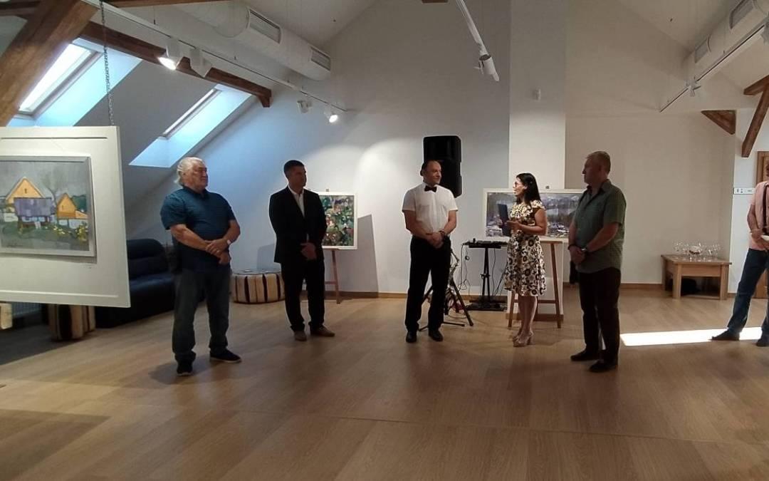 Kopriva Attila festményeiből nyílt jubileumi kiállítás Munkácson
