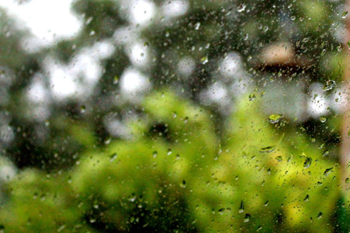 időjárás eső ablak
