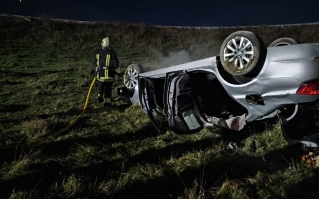 Felborult és kigyulladt egy autó a Munkácsi járásban