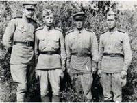 Снимок сделан в Германии. М.М. Михайлов – второй слева