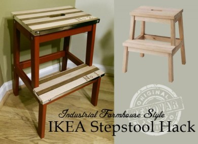 Industrial-Farmhouse-Style-IKEA-stepstool