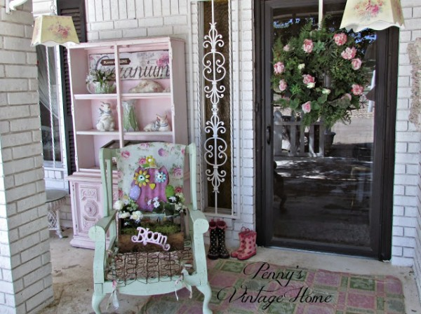 Pennys Treasures Repurposing Wingback chair 5-19