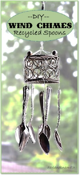 Wind Chimes Recycled Spoons 6-8