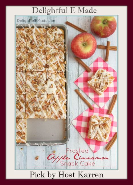 Frosted Apple Cinnamon Snack Cake Delightfully E Made