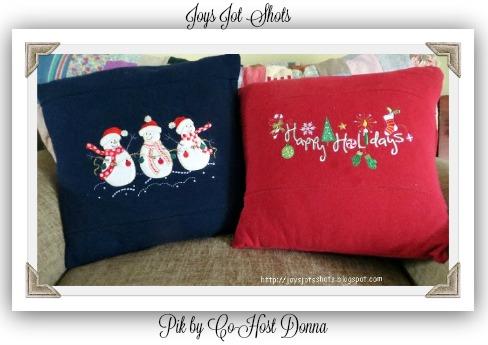 Sweatshirt Pillows-Donna