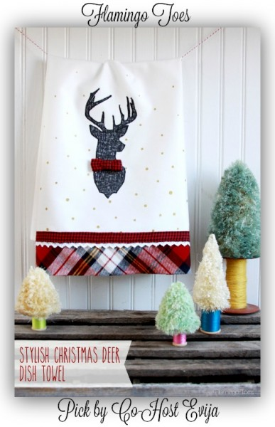 Stylish-Christmas-Deer-Dish-Towel-Flamingotoes