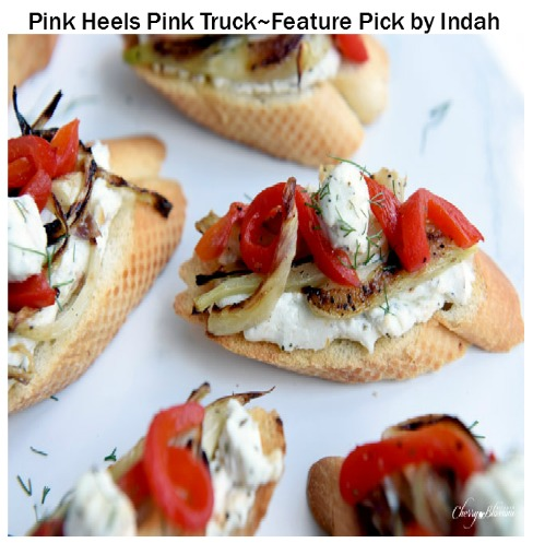 Carmelized-Fennel-Tartines-with-Red-Pepper-and-Herbed-Goat-Cheese-6-CherryBlossomKitchen.com-