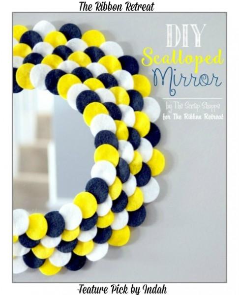 DIY-Scalloped-Mirror Indah Blogger Feature