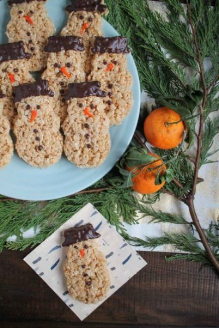 The Kittchen Snowmen-Rice-Krispie-Treats