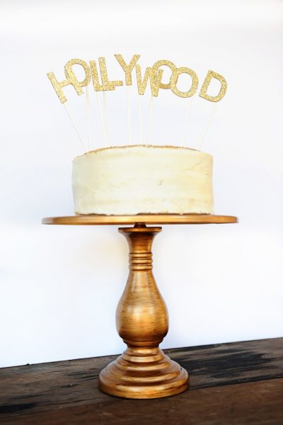 Pink Peppermint Design DIY Hollywood Oscar Party Cake Topper