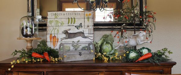 Feature Pic by Christine Light and Savvy Southern Seazons Ready Set Spring Mantel