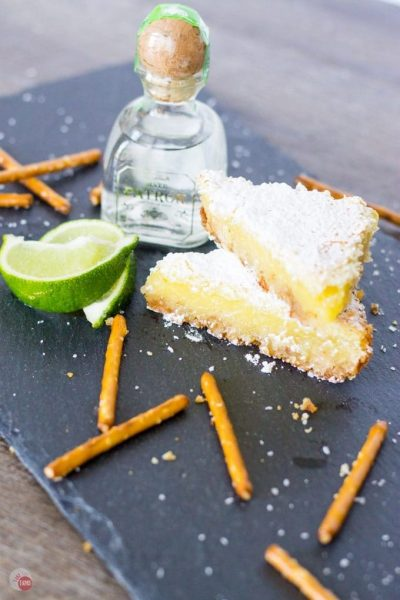Take Two Tapas Margarita-Bars These truely look delicious and made with Tequlia, but you can make them with just using lime Juice