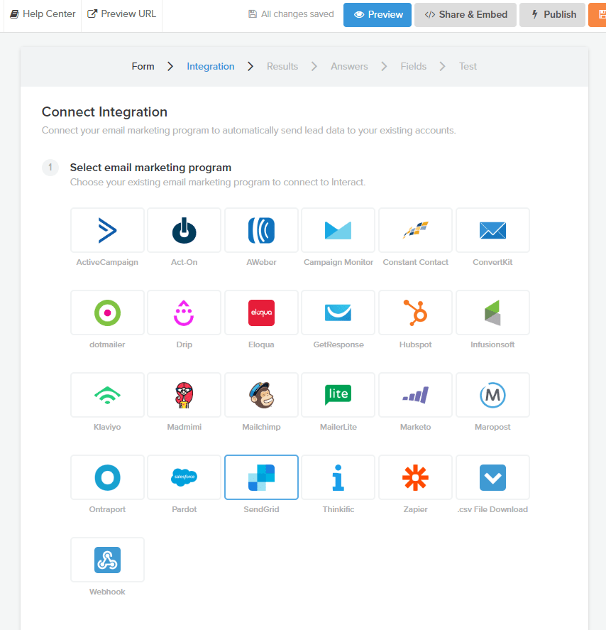 interact email integration