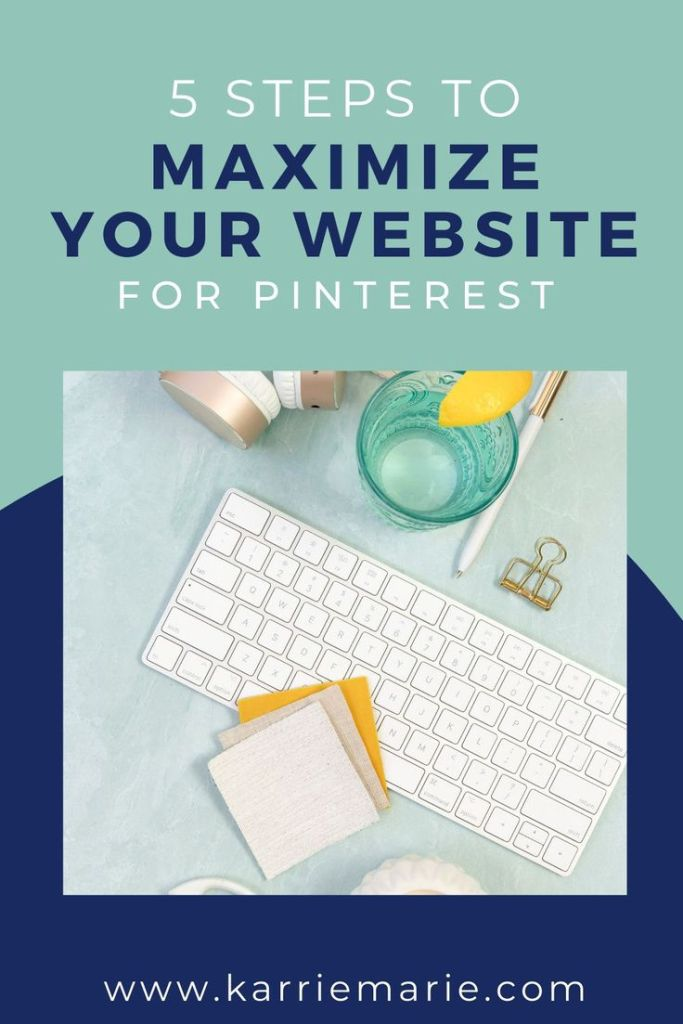 maximize your website for Pinterest with a keyboard