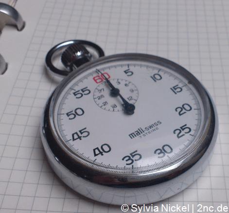 1-Minuten-Pause © Sylvia NiCEL