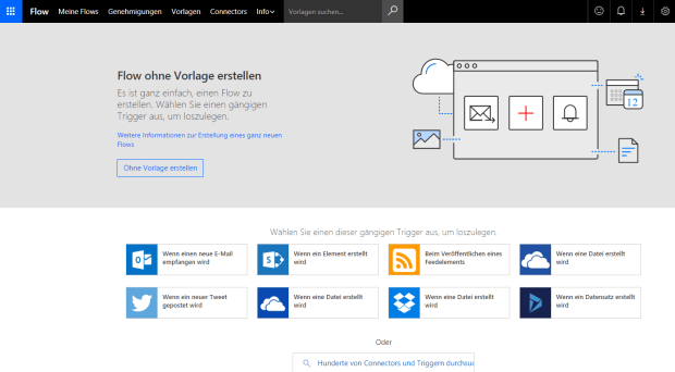 Microsoft Flow | eigene Flows erstellen (Screenshot)