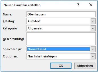 Autotext-Katalog